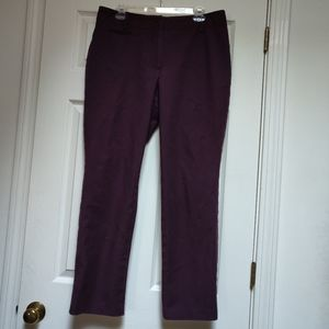 Talbots Newport Pants Burgundy Maroon 12 Trousers